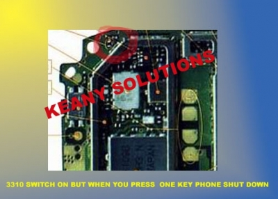 Nokia 3310 - Switches on but when key pressed switches off