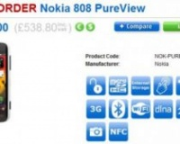 Preorder na Nokię 808 Pure View